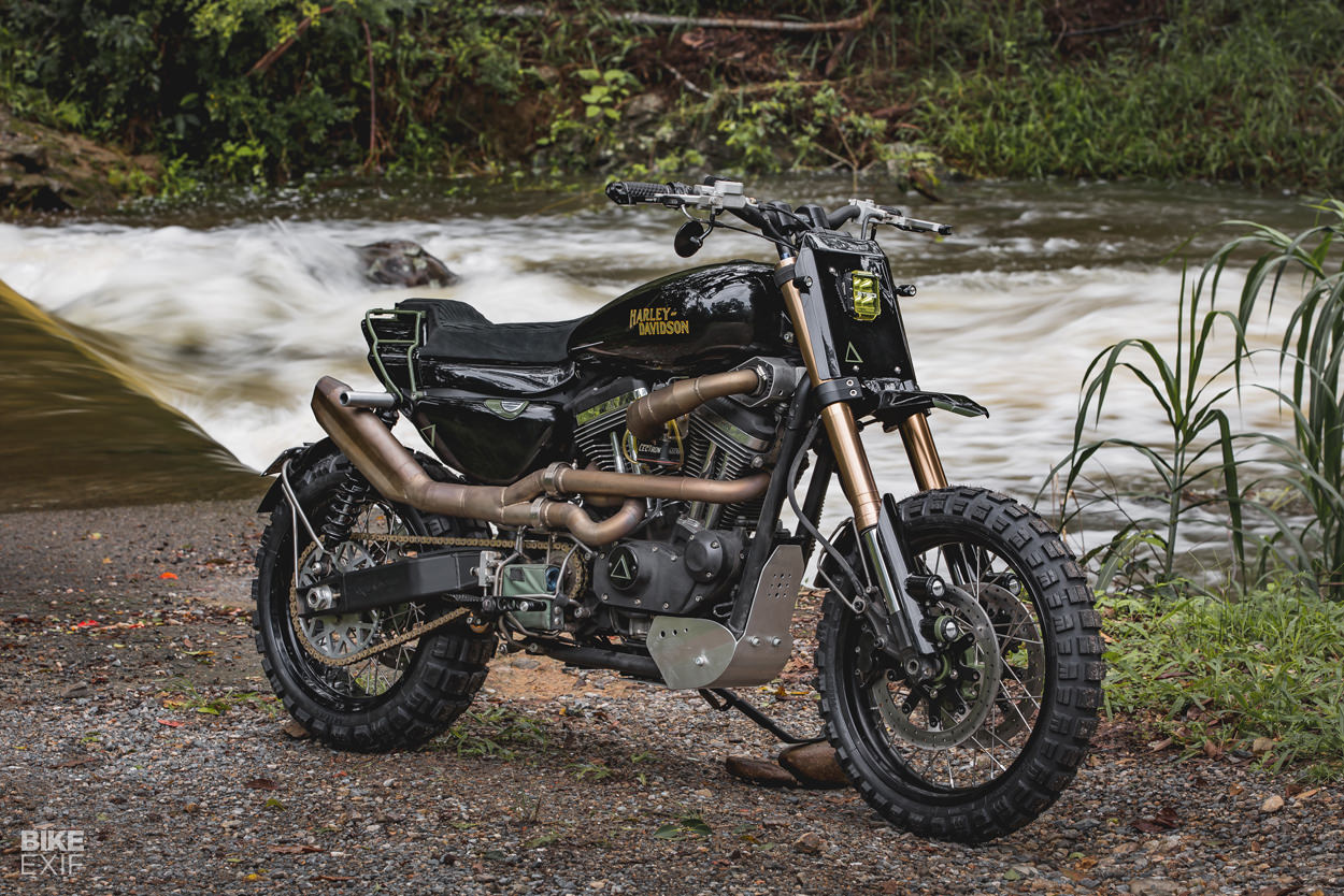 PURPOSE BUILT MOTO TURNS THE SPORTSTER INTO A DUAL SPORT
